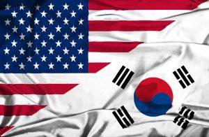 アメリカと韓国の国旗